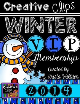 Creative Clips WINTER VIP Membership {Creative Clips Digital Clipart}