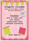 Creative Courses - create your own striped backgrounds usi