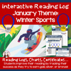 Creative Monthly Elementary Reading Log for January Olympi