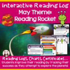 Creative Monthly Elementary Reading Log for May Outer Space Theme