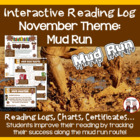 Creative Monthly Elementary Reading Log for November Giving Theme