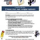 Creative writing activity: create tongue twisters (Common Core)