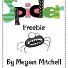 Creepy Crawly Spider Freebie