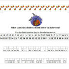 Cryptogram Puzzle: Halloween Safety Tips for Children