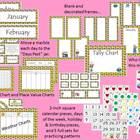 Cupcake Calendar Bulletin Board Set