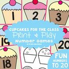 Cupcake Cards - FREE Number Cards Resource