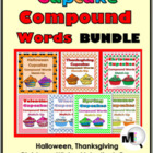 Cupcake Compound Words Match-Up Bundle