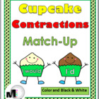 Cupcake Contractions Matching Activity