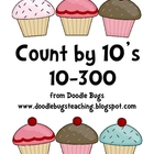 Cupcake Counting by 10s Cards 10-300 Kindergarten, First,