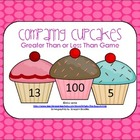 Cupcake Theme Math Center Game {Greater Than Less Than}