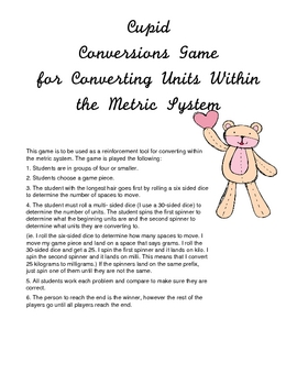 Cupid Metric Conversions Game