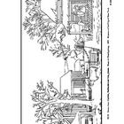 Currier and Ives.  Home to Thanksgiving.  Coloring page an