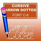 Cursive Arrow Dotted Font