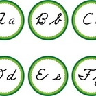 Cursive Word Wall Green Labels Headers
