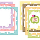 Digital Curvy Frames: Pastel Striped