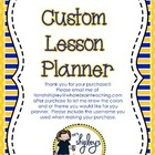 Custom Editable Teacher Lesson Planner