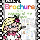 Custom Themed Brochure for Back to School