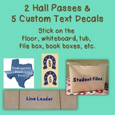 Custom Themed Vinyl Decor Bundle: Hall Passes & 5 Custom T