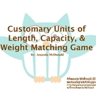 Customary Units of Measurement Matching Game