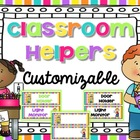 Customizable Classroom Helpers {Bright Decor}
