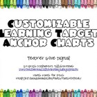 Customizable Learning Target Charts for Common Core or Lea