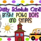 Customizable Schedule Cards {Bright Polka Dots and Stripes}