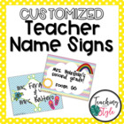 Customizable Teacher Name Signs