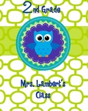 Customized Owl Binder Cover