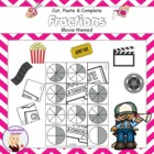 Cut, Paste and Complete - Fractions