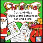 Cut-and-Glue Sight Word Sentences for 2nd and 3rd:  Christ
