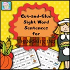 Cut-and-Glue Sight Word Sentences for Thanksgiving