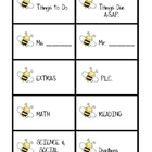 Cute Bees Labels/Tags for Organizing Your Desk