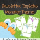 Cute Monster Themed Newsletter Template