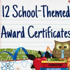 Cute School Themed Award Certificates
