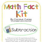Cute Subtraction Math Facts Kit