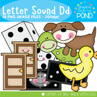 D Set  Clipart Graphics for Teaching Phonics and Alphabet