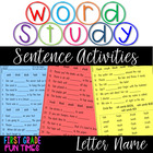 Word Study -Words Their Way - Letter Name