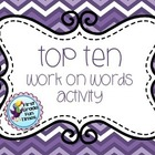 WRITING - Top Ten Center & Station Activity