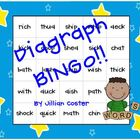 DIGRAPH BINGO GAME!  Wh, Sh, Ch, Th, and Ck!  FUNdations C