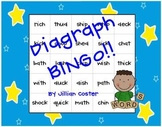 DIGRAPH BINGO GAME!  Wh, Sh, Ch, Th, and Ck!