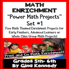 DIFFERENTIATED MATH POWER PROJECT CHOICES WEEK #1 (Enrichment)