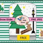 DIY Snowglobe Clip Art  (Commercial Use)