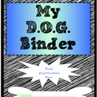 DOG Organizational Binder Cover