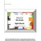 DOLCH 4th Grade Sight Words - colorful grunge border flash