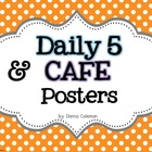 Daily 5 & CAFE Posters - Polka Dot Background