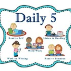 Daily 5 Reading and Math Center Rotation Cards