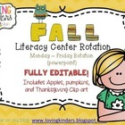 Literacy Center Rotation *Editable* Monday-Friday
