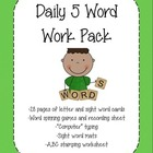 Daily 5/Literacy Center- Word Work Ready-to-go Bundle!