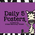 Daily 5 Zebra Poster Set