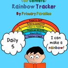 Daily 5  (or centers)  Rainbow Tracker Freebie